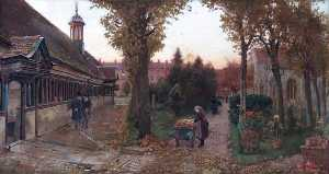 Harry Goodwin - Long Alley Almshouses and St Helen's Churchyard, Abingdon, Oxfordshire