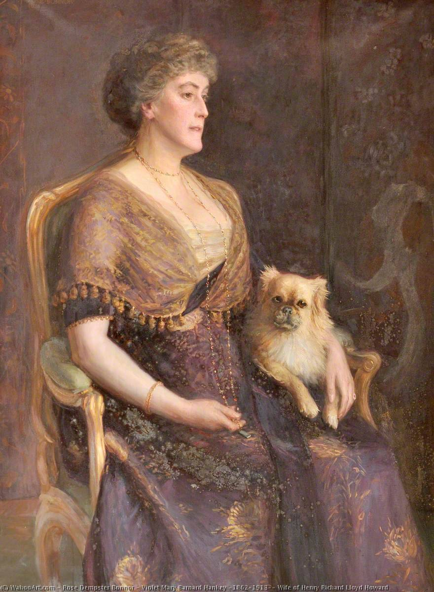 Violet Mary Barnard Hankey (1862–1913), Wife of Henry Richard Lloyd Howard, 1911 by Rose Dempster Bonnor | Museum Quality Reproductions | WahooArt.com