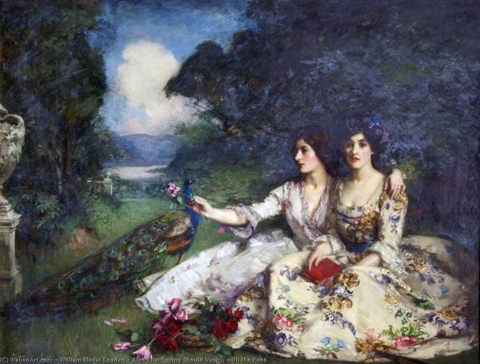 Alas That Spring Should Vanish with the Rose, Oil On Canvas by William Mouat Loudan