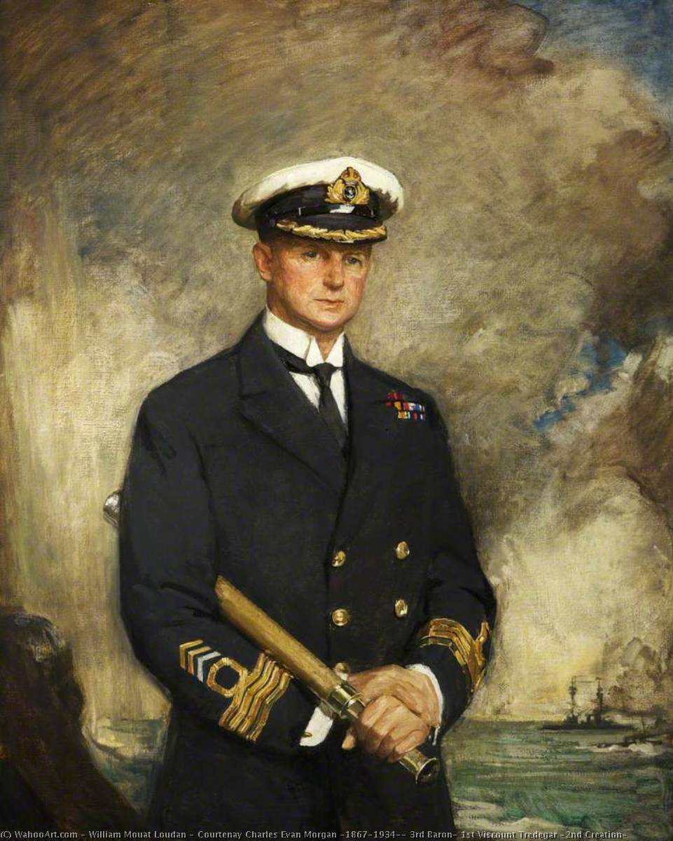 Courtenay Charles Evan Morgan (1867–1934), 3rd Baron, 1st Viscount Tredegar (2nd Creation), Oil On Canvas by William Mouat Loudan