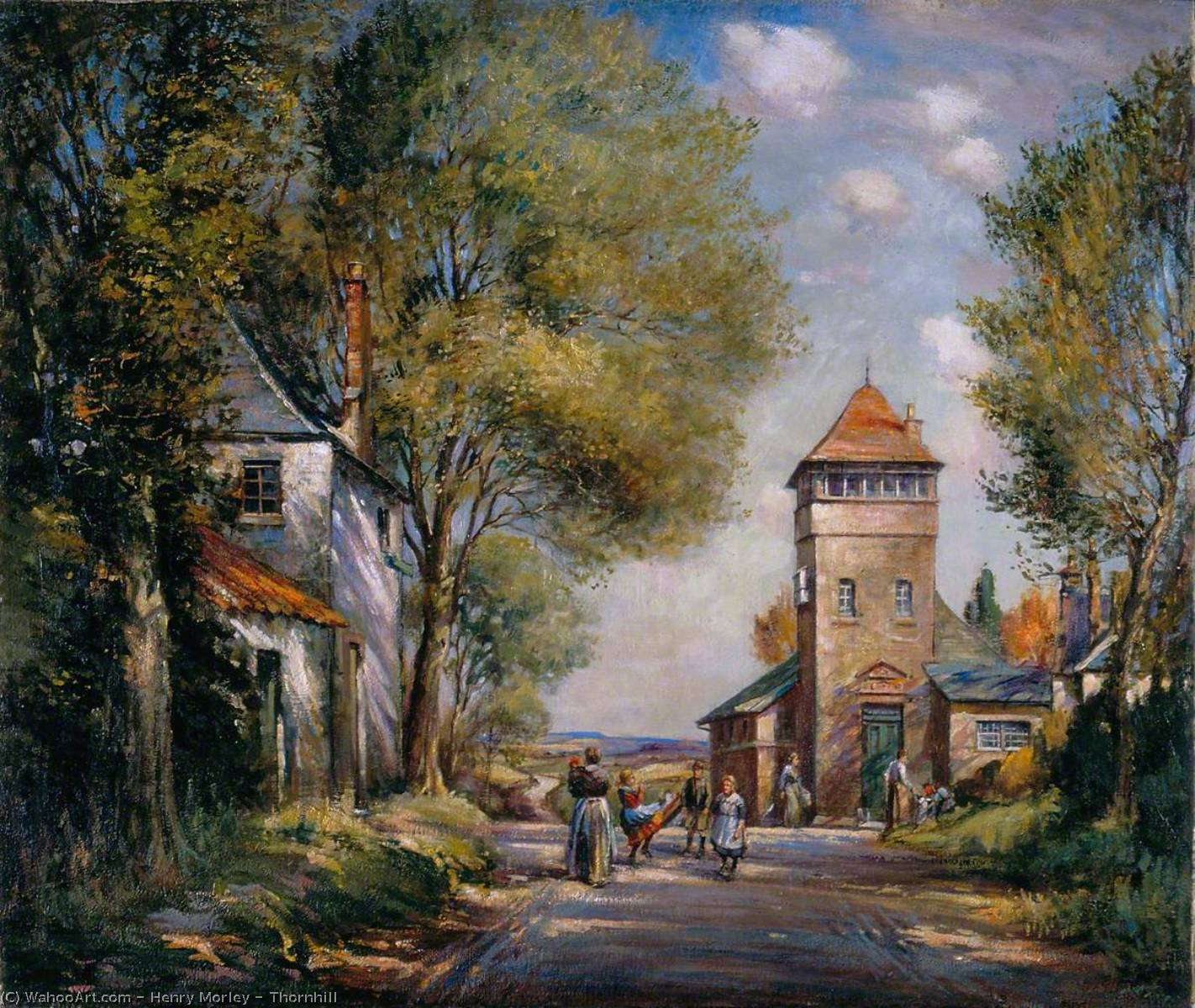 Thornhill, Oil On Canvas by Henry Morley