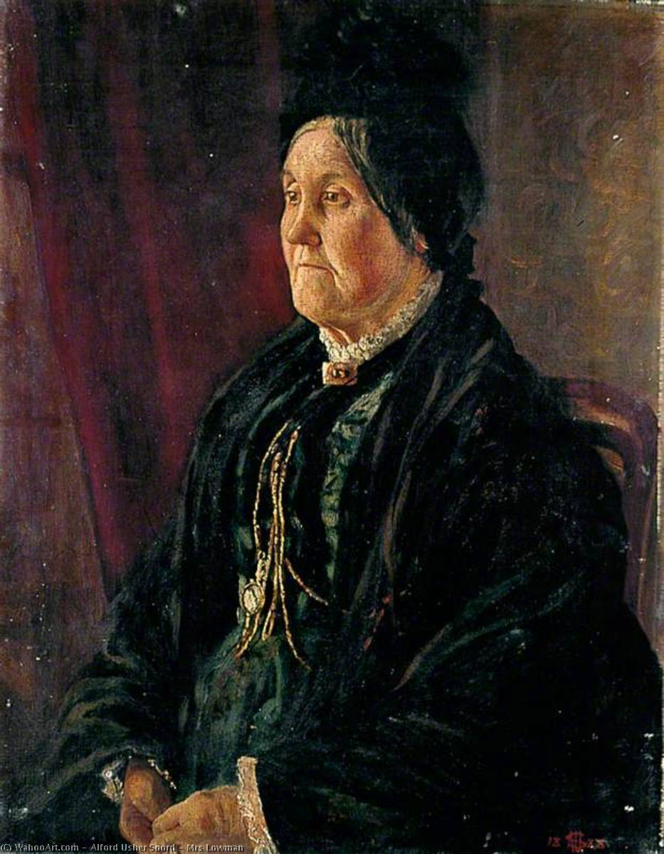 Mrs Lowman, Oil On Canvas by Alford Usher Soord