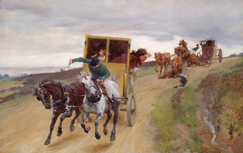 Off to Gretna Green, 1890 by Joseph Walter West | WahooArt.com