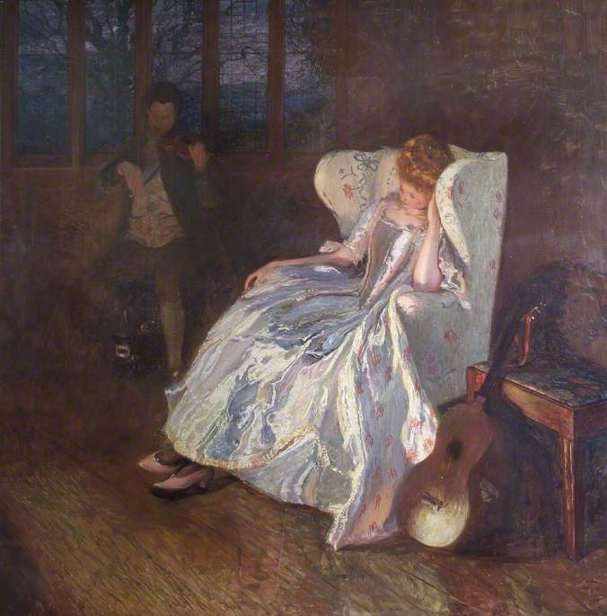 Some Sweet Beguiling Melody, 1908 by Joseph Walter West | WahooArt.com