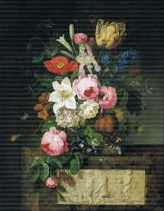 Michel Joseph Speeckaert - Flower Still Life