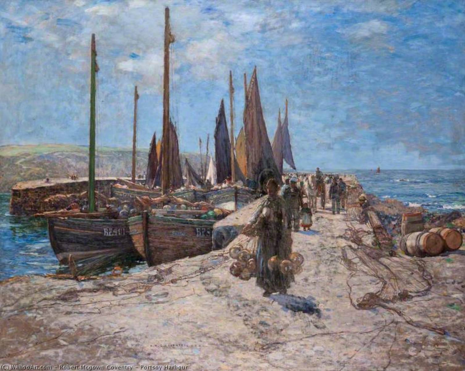 Portsoy Harbour by Robert Mcgown Coventry | Museum Quality Reproductions | WahooArt.com
