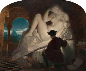 Joseph Noel Paton - Michelangelo Sculpting the Statue of -Night-