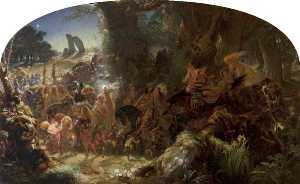 Joseph Noel Paton - The Fairy Raid Carrying Off a Changeling, Midsummer Eve