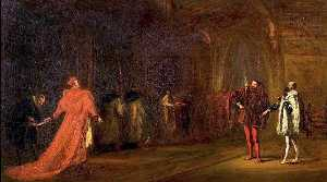 John Gilbert - -Henry VIII-, Act I, Scene 1, Cardinal Wolsey and Buckingham