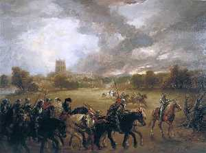 John Gilbert - Margaret of Anjou Taken Prisoner after the Battle of Tewkesbury