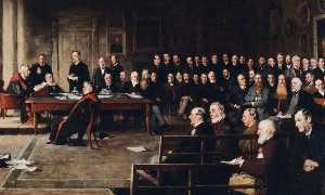 Peter Alexander Hay - College Meeting, 1889