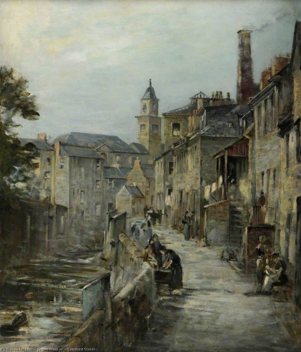 Sandbed Street by James Mackay | Famous Paintings Reproductions | WahooArt.com