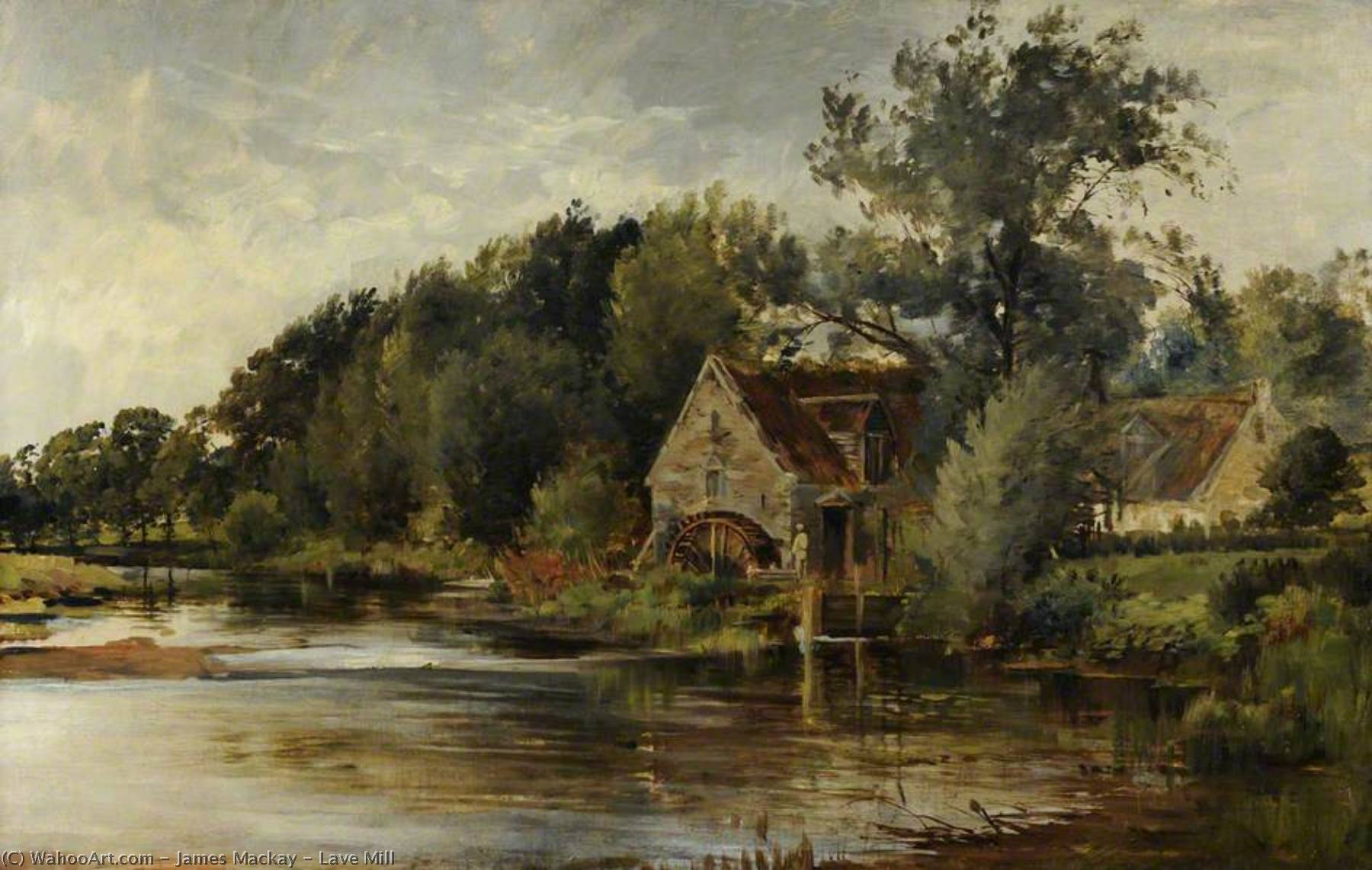 Lave Mill by James Mackay | Famous Paintings Reproductions | WahooArt.com