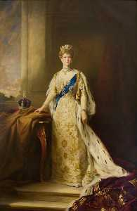 Harry M Allen - Mary of Teck (1867–1953), Queen Consort of King George V (copy of Samuel Henry William Llewellyn)