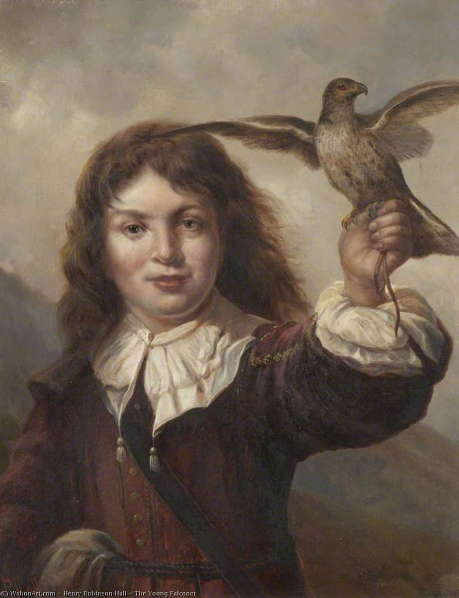 The Young Falconer by Henry Robinson Hall | Paintings Reproductions Henry Robinson Hall | WahooArt.com