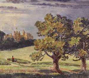 Garnet Ruskin Wolseley - Dunster Castle and Park, from the South