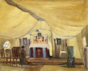 Edwin Martin - Church of England Marquee 39th Stationary Hospital, Ascq