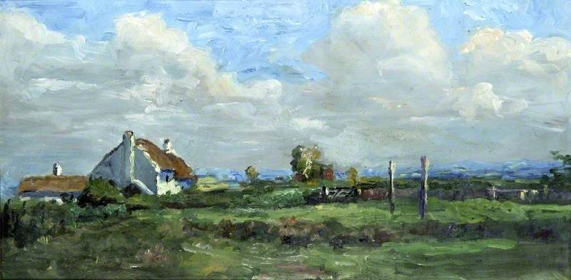 A Breezy Day in Ainsdale, Lancashire by Francis Reily | Painting Copy | WahooArt.com