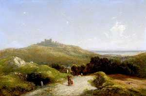 Thomas Creswick - Distant View of Dover Castle