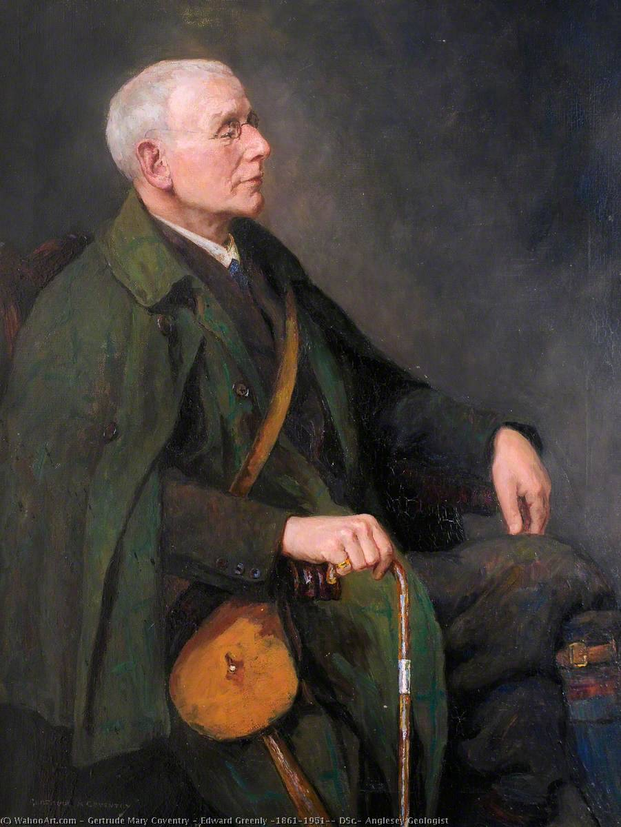 Order Reproductions | Edward Greenly (1861–1951), DSc., Anglesey Geologist by Gertrude Mary Coventry | WahooArt.com