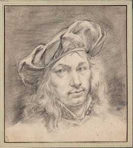 Adriaan Van Der Cabel - Self Portrait with cap