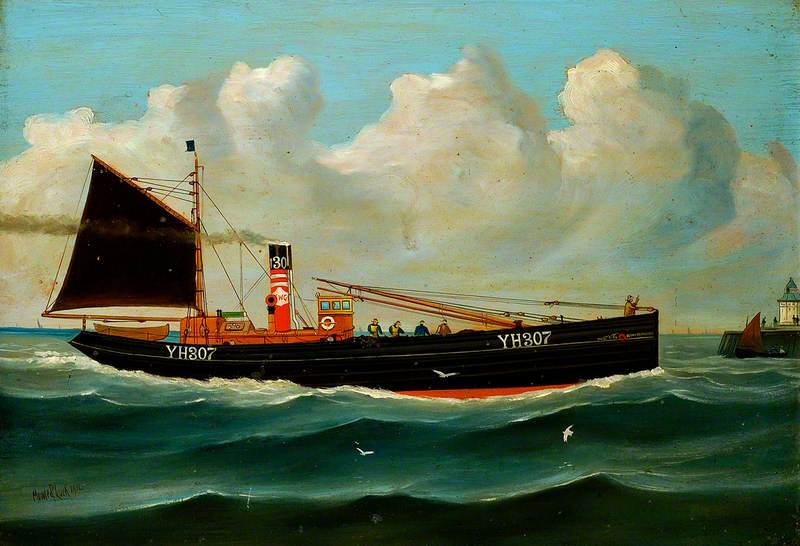 `Ocean Retriever` YH307, 1912 by Kenneth Luck | Oil Painting | WahooArt.com