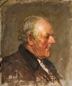 Percy Gleaves - Portrait of an Old Man