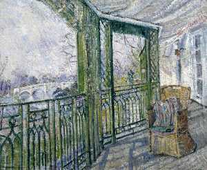 Order Paintings Reproductions | The Green Balcony, 1927 by Louise Pickard | WahooArt.com