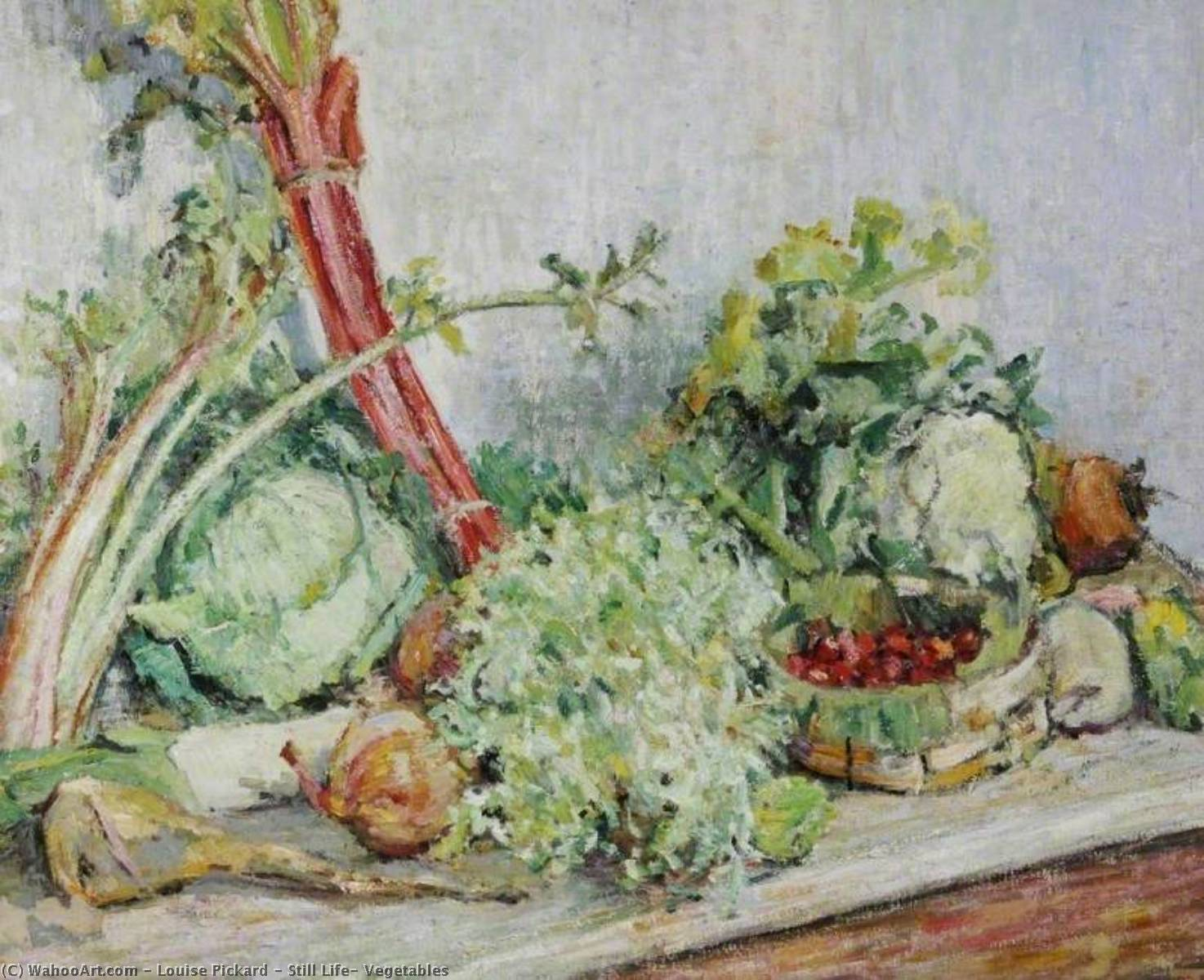 Order Art Reproductions | Still Life, Vegetables by Louise Pickard | WahooArt.com