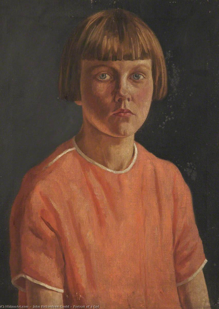 Portrait of a Girl, Oil On Canvas by John Richardson Gauld