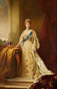 Arthur Paine Garratt - Mary of Teck (1867–1953), Queen Consort of King George V (copy after Samuel William Henry Llewellyn)