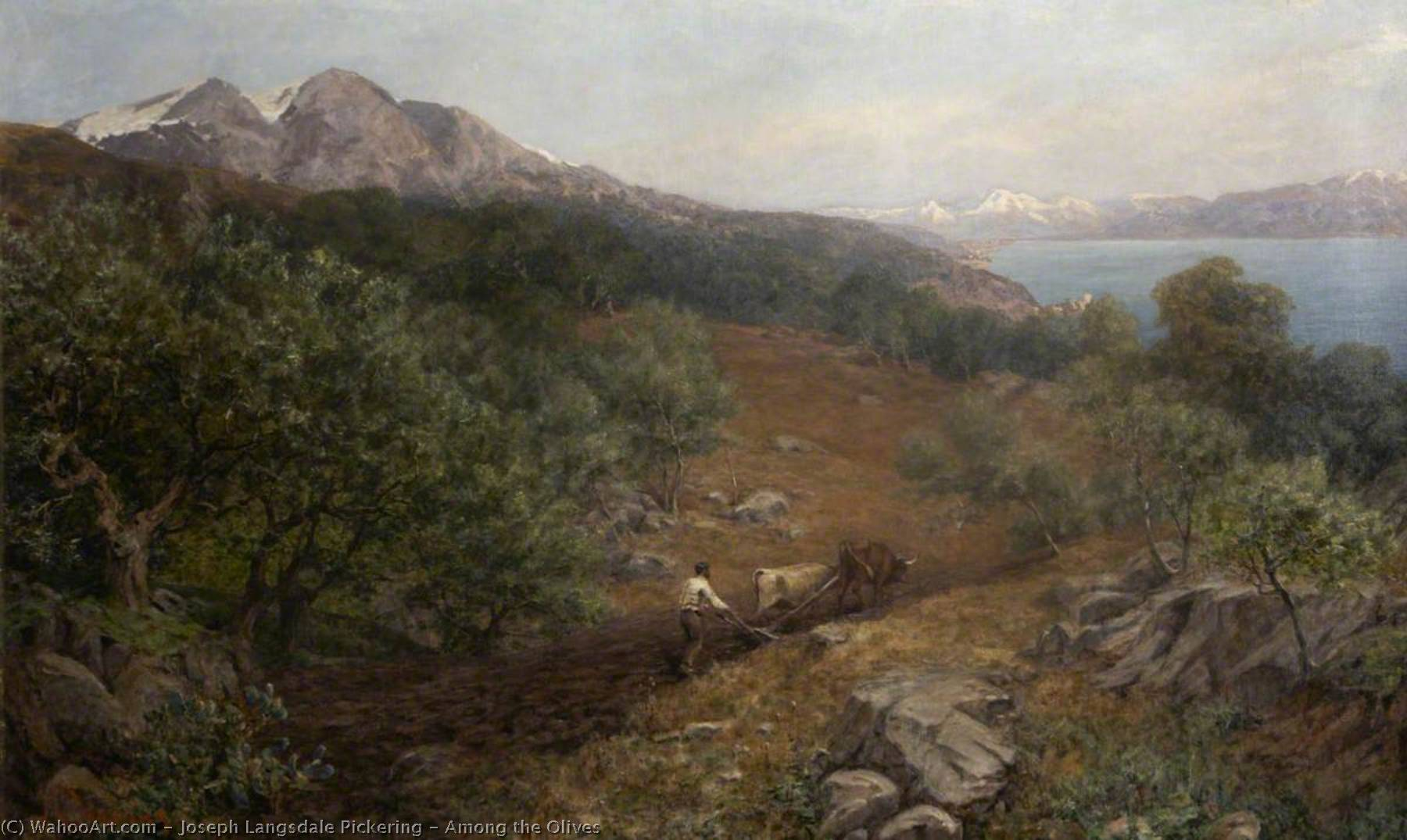 Among the Olives by Joseph Langsdale Pickering | WahooArt.com