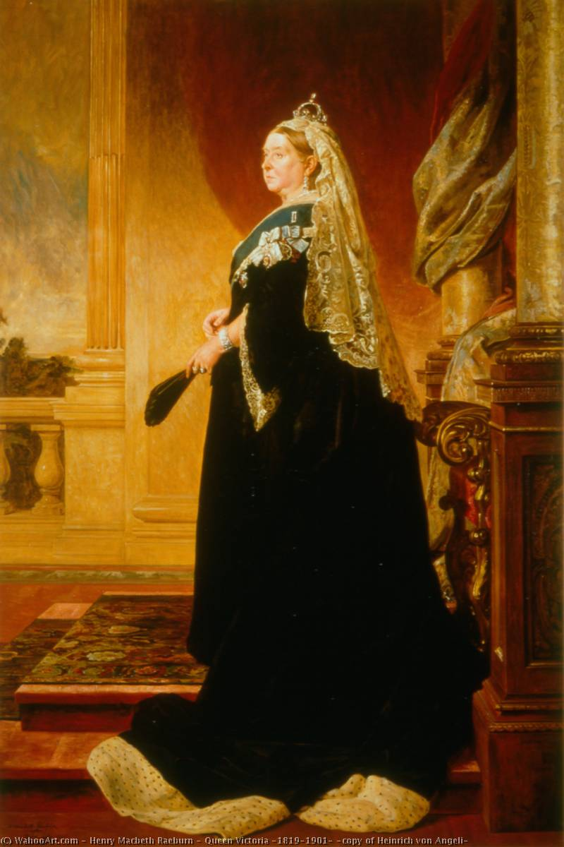 Queen Victoria (1819–1901) (copy of Heinrich von Angeli) by Henry Macbeth Raeburn | Painting Copy | WahooArt.com