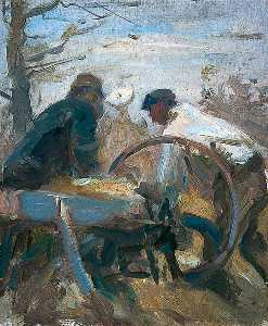Harry Becker - Cutting Chaff in the Open