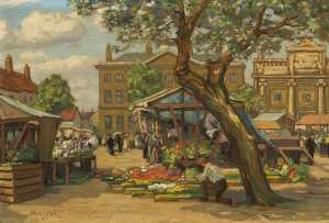 Walter J Hall - Tuesday Open Air Market, King's Lynn
