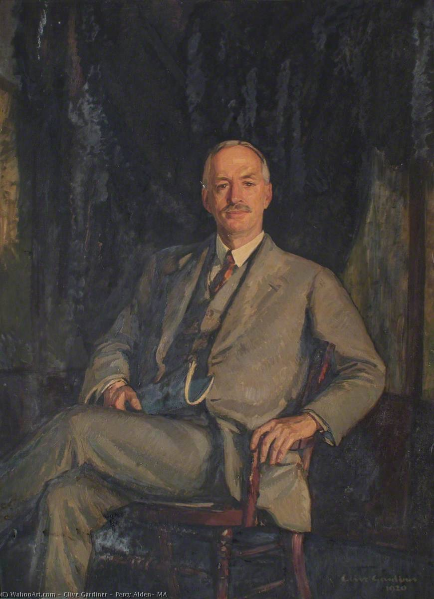 Percy Alden, MA, Oil On Canvas by Clive Gardiner