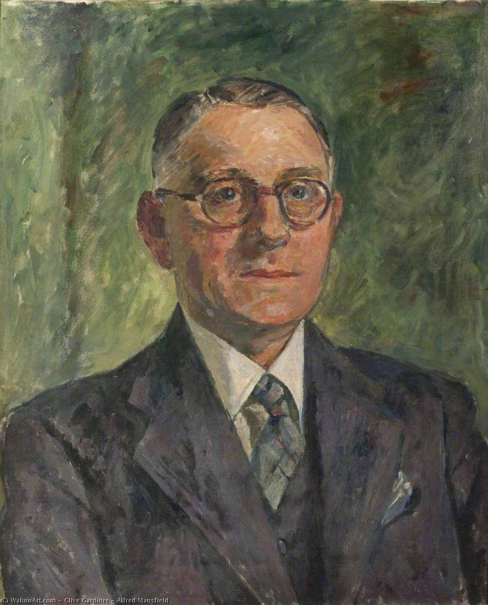 Alfred Mansfield, Oil On Canvas by Clive Gardiner