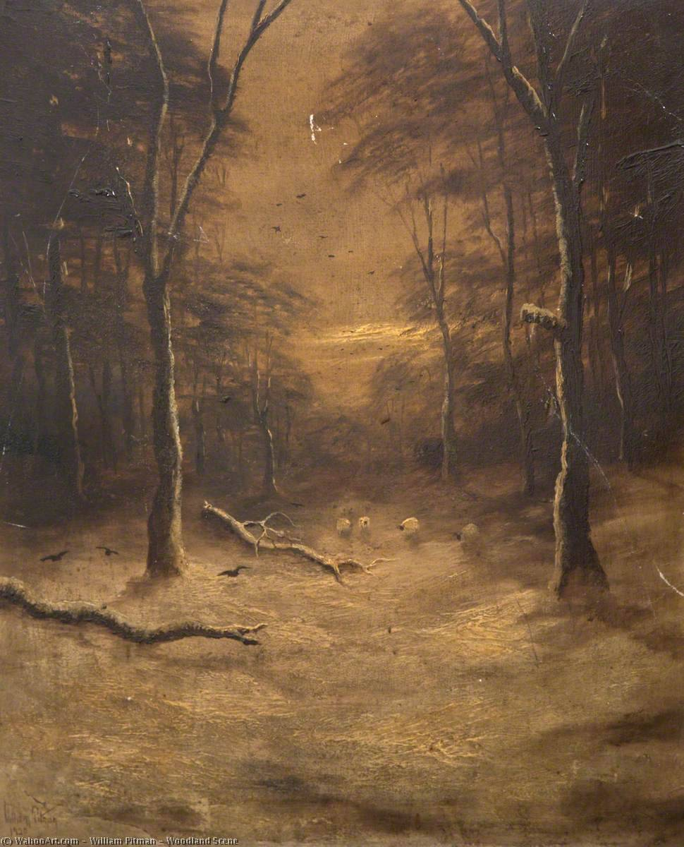 Woodland Scene by William Pitman | Museum Quality Reproductions | WahooArt.com