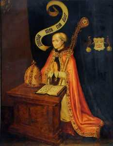 Vincent Galloway - Bishop John Alcock (1430–1500) (copy after an earlier painting by an unknown artist)