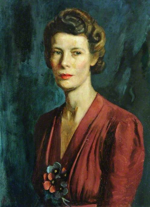 Mrs Schultz, 1944 by Vincent Galloway | Museum Art Reproductions Vincent Galloway | WahooArt.com