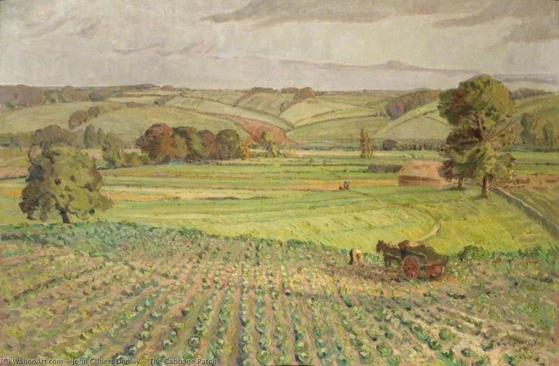 The Cabbage Patch, Oil On Canvas by John Gilbert Donley