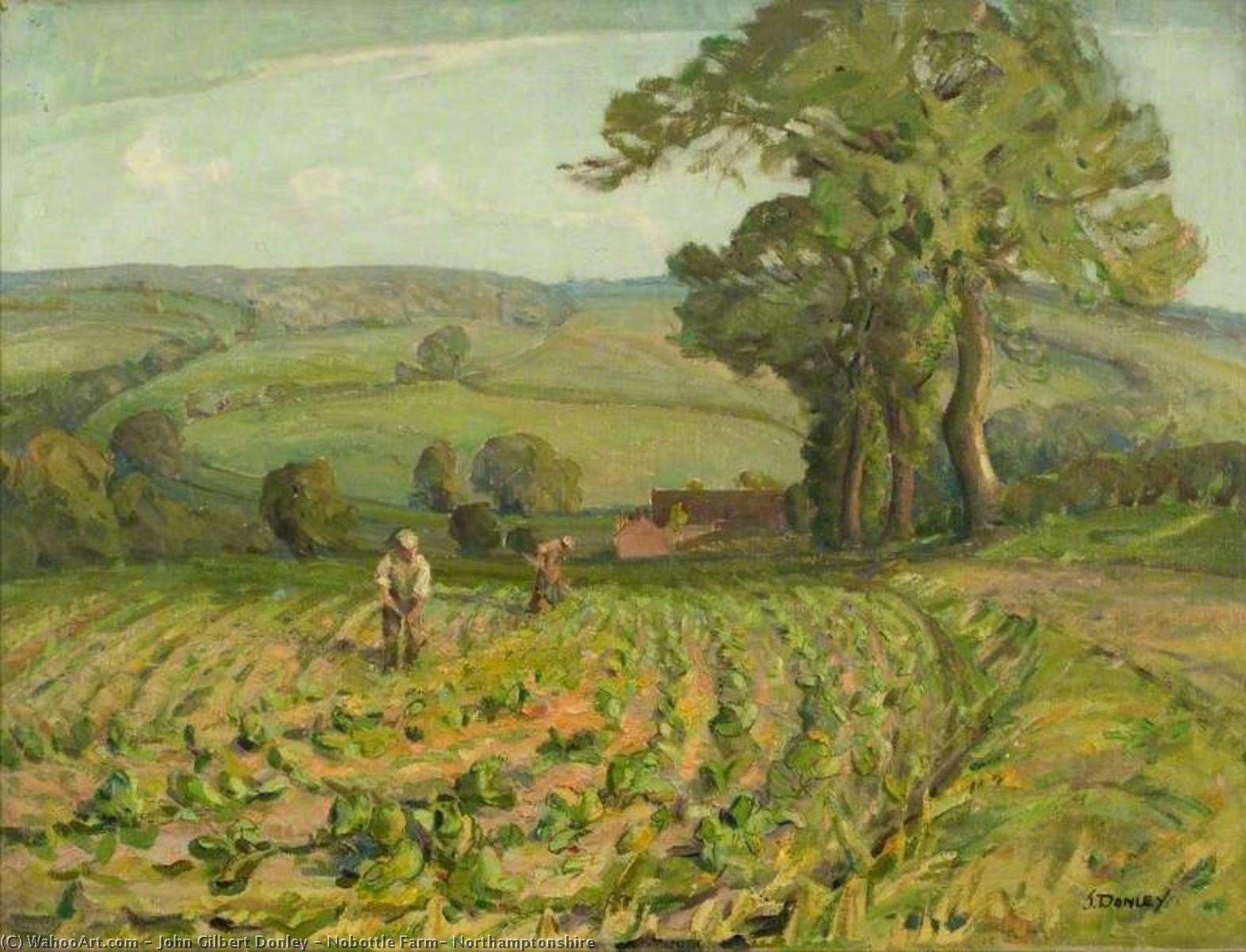 Nobottle Farm, Northamptonshire, Oil On Canvas by John Gilbert Donley