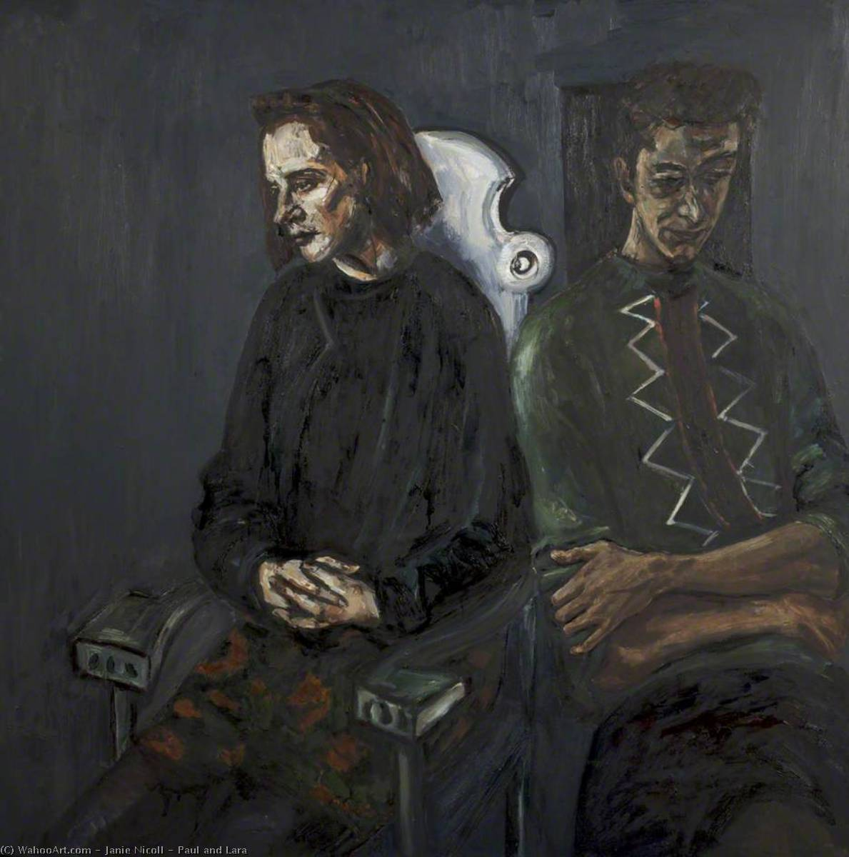 Paul and Lara, Oil On Canvas by Janie Nicoll