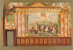 Vivian Charles Hardingham - Side Wall, Queens Drawing Room, Hampton Court (scale copy)