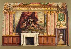 Vivian Charles Hardingham - Chimney Wall, Queens Drawing Room, Hampton Court (scale copy)