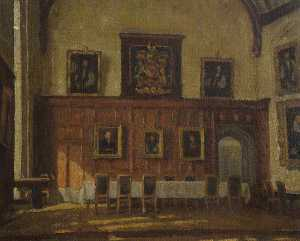 Frederick Hawkesworth S Shepherd - The High Table in the Hall, Corpus Christi College