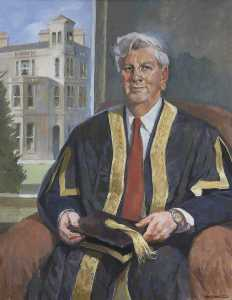 Ken Symonds - Sir Geoffrey Holland (b.1938), Vice Chancellor of the University of Exeter