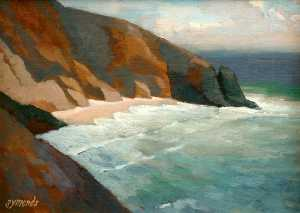 Order Paintings Reproductions | Cliffs by Ken Symonds | WahooArt.com