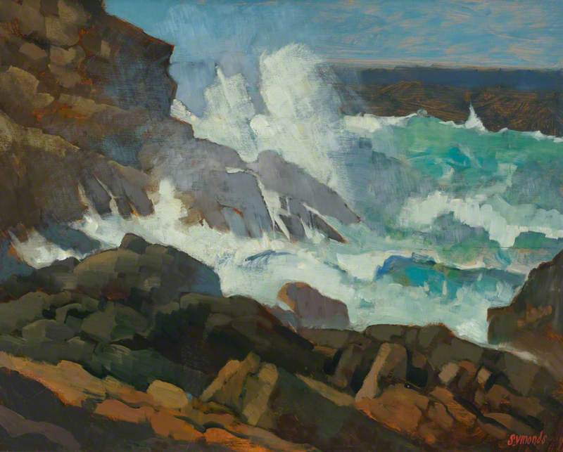 Heavy Seas, Sennen by Ken Symonds | Reproductions Ken Symonds | WahooArt.com