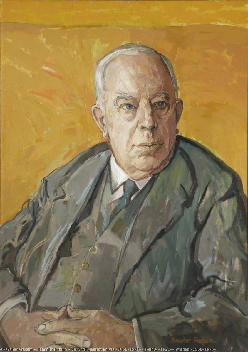 Sir Cecil Maurice Bowra (1898–1971), Fellow (1922), Warden (1938–1970), Oil On Canvas by Benedict Rubbra